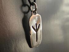 Runenplakette aus 925'er Silber EOLH Rune Lebensbaum Anhänger Wikinger / KA 092