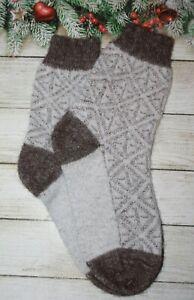 2 pairs SOCKS WOMEN's Knitted 100% natural sheep WOOL THIN Warm 8US