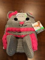 First Steps Infant Knit Crochet Mouse Diaper Hat Set Photo Picture outfit
