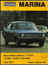 Morris Marina 1 & 2 1.3 1.8 1300 1700 from 1971 Intereurope Workshop Manual 1978