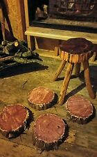4x - Red Cedar Wood Slices☆ Rustic Wedding Decor, Stools And Crafts