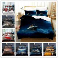 3D Eiffel Tower Doona Duvet Cover Ship Bedding Set Comforter Cover Pillow Case