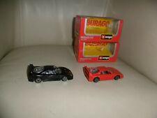 Burago Ferrari F40s Black and Red, cod 4108 and 4128