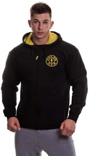 Gold's Gym GGSWT007 Mnes Muscle Joe Contrast Sweater Workout Training Full Zip M