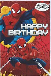 Spiderman Happy Birthday Card