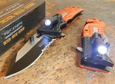 TAC-FORCE Spring Assisted Open LED Light EMT EMS Folding Pocket Rescue Knife NEW