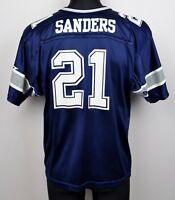 DALLAS COWBOYS Jersey #21 SANDERS Youth Large KIDS Shirt NFL American Football L