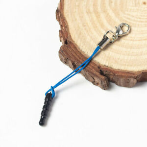 10/50X Cell Phone Dustproof Plug Lanyard Cords Strap Lariat Lobster Clasp DIY