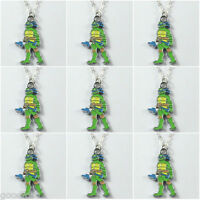 Lot 9pcs Turtle Brother w/ Dagger Charms Pendants Necklace for Kid Birthday Gift