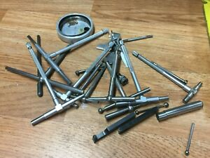 LOT OF TELESCOPING GAGES / INDICATOR HOLDERS PIE TAPE