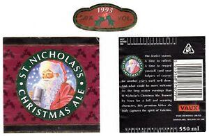 Vaux Breweries Ltd St Nicholas's Christmas Ale 1995 Bottle Label