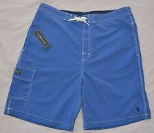 New Large 35 38 POLO RALPH LAUREN Men Kailua Swim Trunks Blue Board shorts trunk
