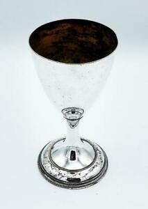 OLD SHEFFIELD SILVER PLATE WINE GOBLET c1790