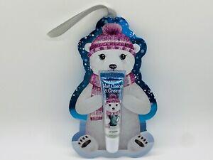 Bath & Body Works HOT COCOA & CREAM Lip Gloss Bear Tag Ornament Gift 0.47 fl.oz