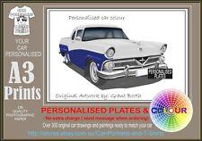 1958 FORD MAINLINE UTE A3 ORIGINAL PERSONALISED PRINT POSTER CLASSIC RETRO CAR