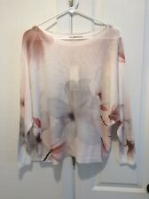 Ladies Woven Knit Sweater With Floral Pattern By Anna Melani Size M NWT