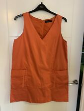Ladies Dorothy Perkins Pumpkin Orange Lined Dress Size 14/16