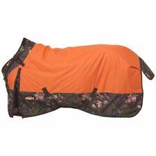 "New Tough-1 Blanket Waterproof Turnout 81"" Snuggit Neck Rug Timber Horse Tack"