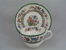 COPELAND SPODE CHINESE ROSE BREAKFAST CUP AND SAUCER, BROWN BACKSTAMP, CRAZING.