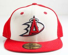 New Era Los Angeles Angels and Ducks Combined Logo Hat Red With Smudge