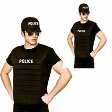 Uomo DONNA SWAT Team CANOTTA POLIZIOTTO FBI Tactical Fancy Dress Outfit