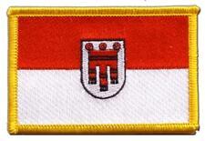 Österreich Vorarlberg Aufnäher Flaggen Fahnen Patch Aufbügler 8x6cm