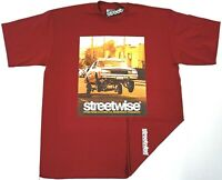 STREETWISE BOUNCE T-shirt Urban Streetwear Tee Men L-3XL Burgundy New