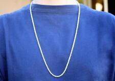 "26"" Diamond Chain 7.55ct Tennis Necklace 14k White Gold Men Women USA Made"