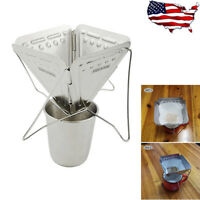 Stainless Steel Pour Over Cone Dripper Reusable Coffee Filter  Coffee Drip Rack