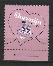 SLOVENIA 2020 LOVE HEART SHAPED TANDEM BIKE DAISY BELLS COMP. SET 1 STAMP MINT