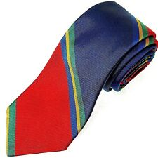 ROBERT TALBOTT Best of Class Regimental Stripe Red Blue Green Yellow Neck Tie