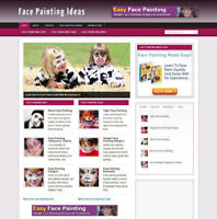 FACE PAINTING UK AFFILIATE WEBSITE WITH FREE DOMAIN + HOSTING & SSL CERT