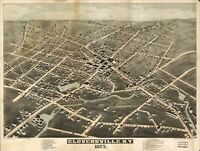 A4 Reprint of American Cities Towns States Map Gloversville Ny