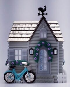 1 Bath & Body Works HOUSE COTTAGE WITH BLUE BIKE Wallflower Plug Holder