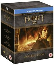 The Hobbit 3D Trilogy Extended Edition [Blu-Ray] [Region Free] NEW