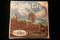 Quebec City, Canada Viewmaster 1960's w/3 Reels & Booklet  EXCELLENT