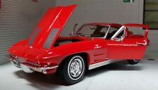 1:24 Scale Red Chevrolet Chevy C2 V8 Corvette 1963 Sting Ray Stingray Model Car