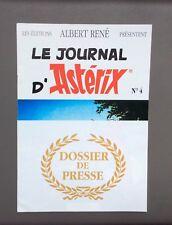 UDERZO. Le Journal d'Astérix. Dossier De Presse  Albert René N°4 1991