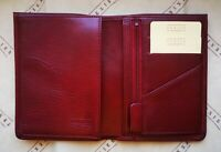 Texier Red Leather Mens Wallet Extra Holders ID with Gift Box made France