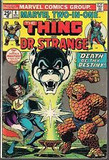 "MARVEL TWO IN ONE #6 THE THING & DR. STRANGE 11/74 ""DEATH SONG OF DESTINY!"" FN"