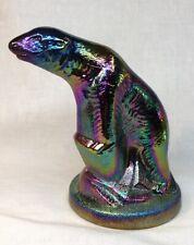 Summit Art Glass Amethyst Carnival Polar Bear