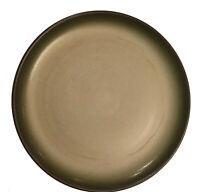 Heath Ceramics Dinner Plate USA Green Rimmed Speckled Pottery Vtg