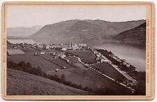 1894 VINTAGE AERIAL VIEW STEINERNES MEER SALZBURG, ZELL AM SEE, CABINET CARD