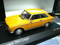 PEUGEOT 304 Coupe 1972 orange Minichamps PMA 1/1008 pcs 1:43