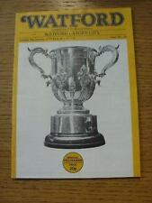 09/01/1979 Watford v Stoke City [Football League Cup Replay] (Pin Hole). Item In