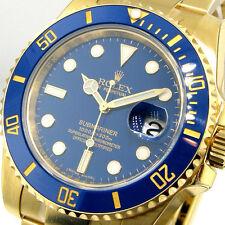 UNWORN ROLEX SUBMARINER 116618 18K YELLOW GOLD CERAMIC BLUE DIAL