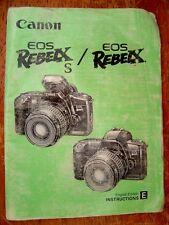 Canon EOS Rebel S & EOS Rebel X Original Instruction Manual