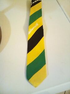 Jamaican color Tie very sleek ,rich ,bold Black/green/gold. A show stopper.