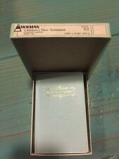 Vintage Holman Children's Edition New Testament Pocket Size Baby Blue With Box