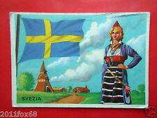 figurines cromos cards figurine sidam gli stati del mondo 51 svezia flaggen flag
